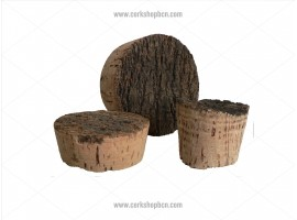 Rustic style cork stopper 50x40 mm