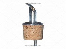 Cork Stopper with Plastic Pourer 21x17 mm