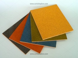 Self-adhesive coloured cork sheets
